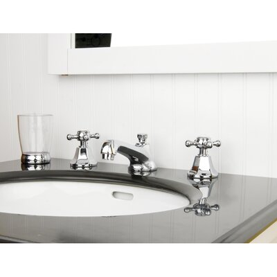 Metropolitan Double Handle Widespread Bathroom Faucet with Pop-Up Drain