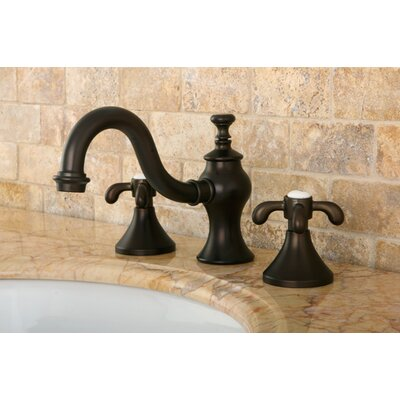 French Country Double Handle Widespread Bathroom Faucet with Pop-Up Drain Finish: Oil Rubbed Bronze