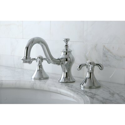 French Country Double Handle Widespread Bathroom Faucet with Pop-Up Drain Finish: Polished Chrome