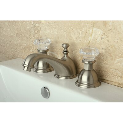Celebrity Celebrity Double Crystal Handle Widespread Bathroom Faucet with Brass Pop-Up Drain Finish: Satin Nickel