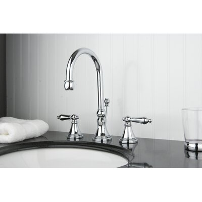 Governor Double Handle Widespread Bathroom Faucet with Brass Pop-Up Drain Finish: Polished Chrome