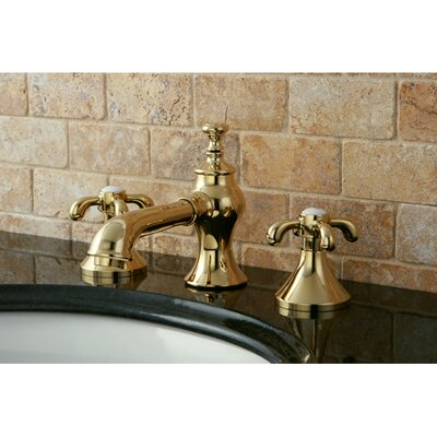 English Country Double Handle Widespread Bathroom Faucet with Pop-Up Drain Finish: Polished Brass