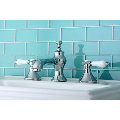 Vintage Double Handle Widespread Bathroom Faucet with Pop-Up Drain Finish: Polished Chrome