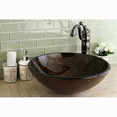 Fauceture Bologna Circular Vessel Bathroom Sink