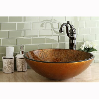 Fauceture Milano Circular Vessel Bathroom Sink