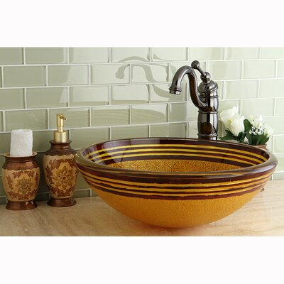 Fauceture Napoli Circular Vessel Bathroom Sink