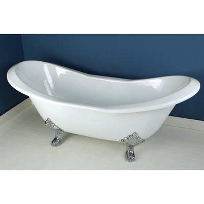 Aqua Eden Soaking Bathtub Finish: Polished Chrome