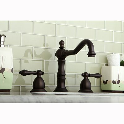Heritage Double Handle Widespread Bathroom Faucet with Brass Pop-Up Drain Finish: Oil Rubbed Bronze