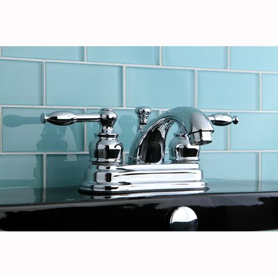 Knight Double Handle Centerset Bathroom Faucet with ABS Pop-Up Drain Finish: Polished Chrome