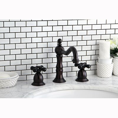 Heritage Onyx Double Handle Widespread Bathroom Faucet with Pop-Up Drain Finish: Oil Rubbed Bronze