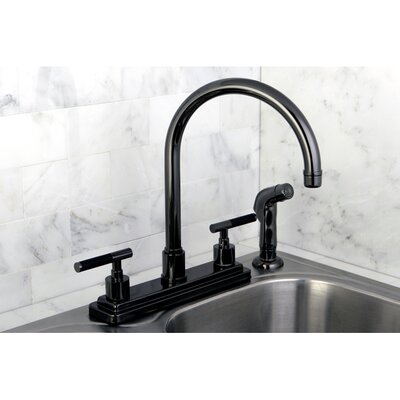 Water Onyx Double Handle Kitchen Faucet with Side Spray