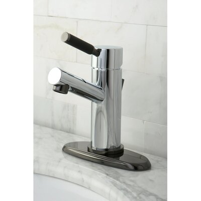 Water Onyx Single Handle Centerset Bathroom Faucet with Brass Pop-Up Finish: Polished Chrome/Black Nickel