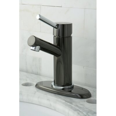 Water Onyx Single Handle Centerset Bathroom Faucet with Brass Pop-Up Finish: Black Nickel/Polished Chrome