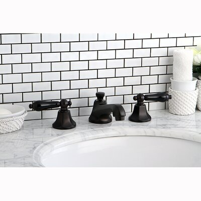 Metropolitan Onyx Double Handle Widespread Bathroom Faucet with Pop-Up Drain Finish: Oil Rubbed Bronze