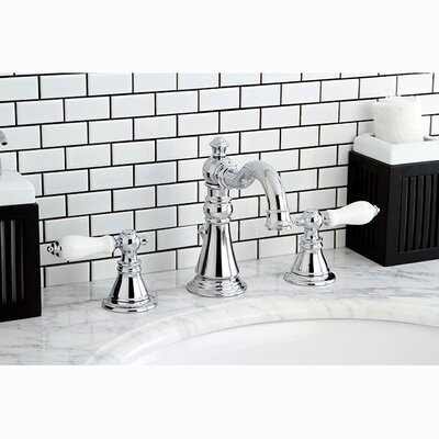 American Patriot Double Handle Widespread Bathroom Faucet with ABS Pop-Up Drain Finish: Polished Chrome