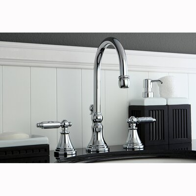 Governor Double Handle Widespread Bathroom Faucet with Brass Pop-Up Drain