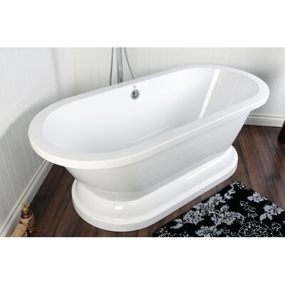 Aqua Eden 31.5 x 66.94 Freestanding Soaking Bathtub