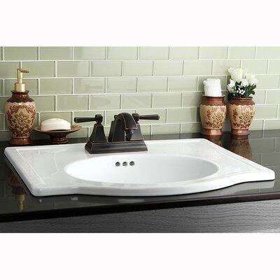 Monarch Double Handle Centerset Bathroom Faucet with Pop-Up Drain Finish: Naples Bronze
