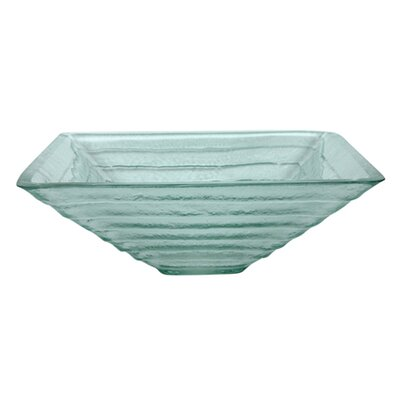 Fauceture Glass Square Vessel Bathroom Sink