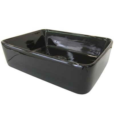 French Rectangular Vessel Bathroom Sink Sink Finish: Black