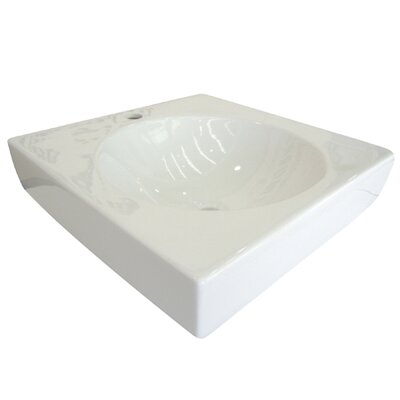 Beverly Square Vessel Bathroom Sink Finish: White