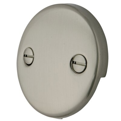 Trip Lever 2 Hole Round Plate Finish: Satin Nickel