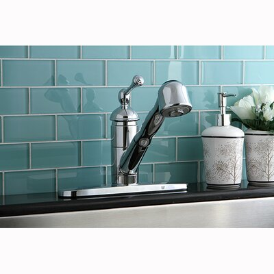 Vintage Single Handle Centerset Pull-Out Kitchen Faucet Finish: Polished Chrome