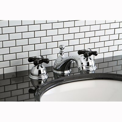 Restoration Onyx Double Handle Widespread Bathroom Faucet with Pop-Up Drain Finish: Chrome