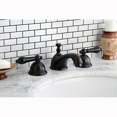 Restoration Onyx Double Handle Widespread Bathroom Faucet with Pop-Up Drain Finish: Oil Rubbed Bronze