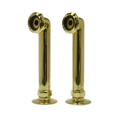 Vintage 6 Deck Mount Risers Finish: Polished Brass