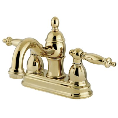 Templeton Double Handle Centerset Bathroom Faucet with Brass Pop-Up Drain Finish: Polished Brass