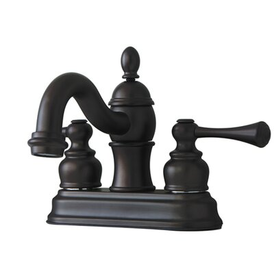 Vintage Double Handle Centerset Bathroom Faucet with ABS Pop-Up Drain Finish: Oil Rubbed Bronze