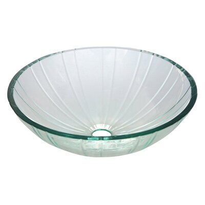 Concord Glass Circular Vessel Bathroom Sink