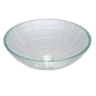 Meridian Glass Circular Vessel Bathroom Sink