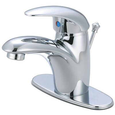 Wilton Single Handle Bathroom Faucet with ABS Pop-Up Drain and Deck Plate Finish: Polished Chrome