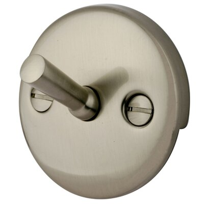 Made to Match Trip Lever 2 Hole Round Plate Finish: Satin Nickel