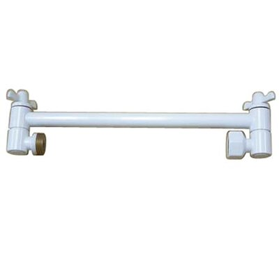 10 High-Low Adjustable Shower Arm Finish: White