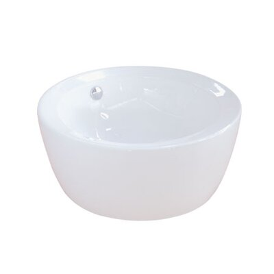 Dynasty Ceramic Circular Vessel Bathroom Sink with Overflow