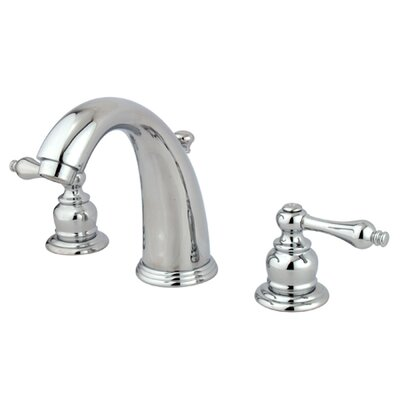 Victorian Double Handle Widespread Bathroom Faucet with Brass Pop-Up Drain Finish: Polished Chrome