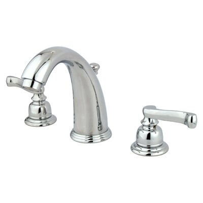 Royale Double Handle Widespread Bathroom Faucet with Brass Pop-Up Drain Finish: Polished Chrome