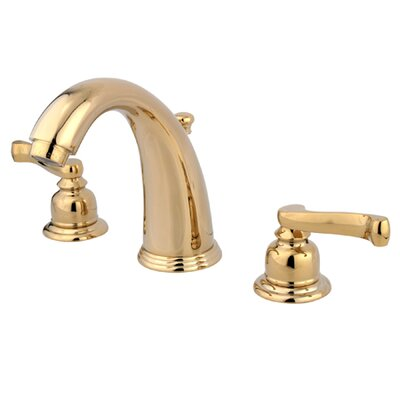 Royale Double Handle Widespread Bathroom Faucet with Brass Pop-Up Drain Finish: Polished Brass