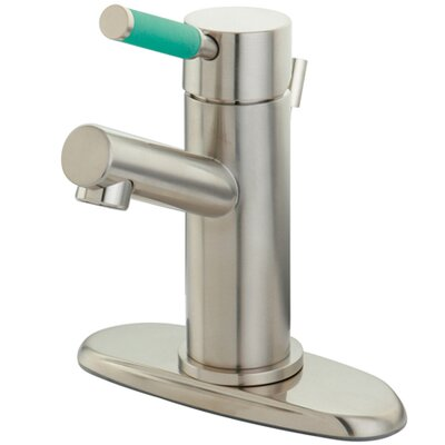 Green Eden Single Handle Bathroom Faucet with Cover Plate Finish: Satin Nickel