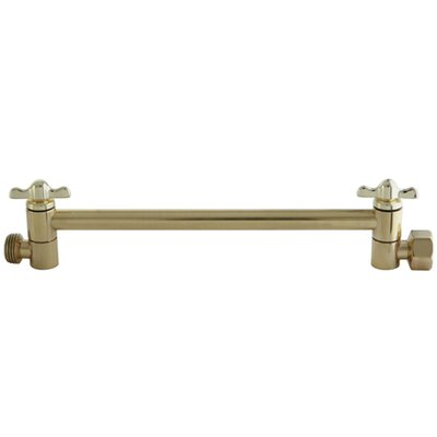 10 High-Low Adjustable Shower Arm Finish: Polished Brass
