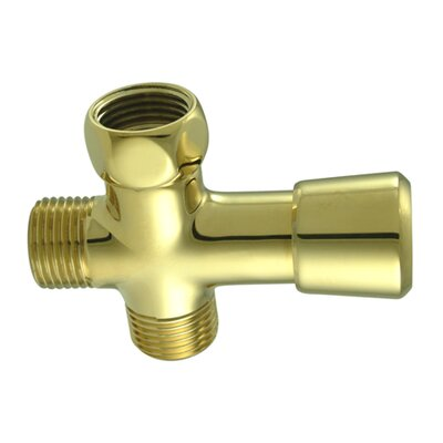Shower Diverter Finish: Polished Brass