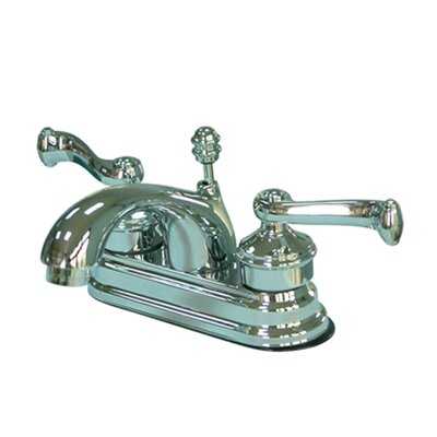 Royale Double Handle Centerset Bathroom Faucet with Brass Pop-Up Drain Finish: Polished Chrome