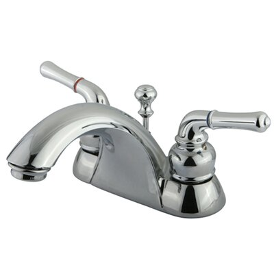 Naples Double Handle Centerset Bathroom Sink Faucet with ABS/Brass Pop-Up Drain Finish: Polished Chrome