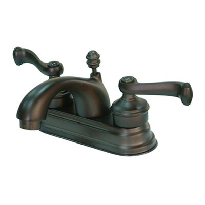 Royale Double Handle Centerset Bathroom Faucet with Brass Pop-Up Drain Finish: Oil Rubbed Bronze