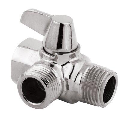 Solid Brass Flow Diverter for Shower Arm Mount Finish: Polished Chrome