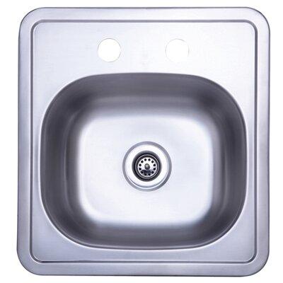 Carefree 15 x 15.75 Single Bowl Self-Rimming Bar Sink