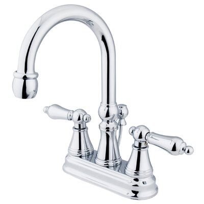 Governor Double Handle Centerset Bathroom Faucet with Brass Pop-Up Drain Finish: Polished Chrome